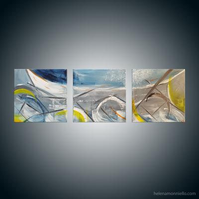 Peinture abstraite de l'artiste Helena Monniello qui symbolise les héritages que nous avons