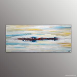 Paysage abstrait de l'artiste Helena Monniello dans lequel on peut sentir le vent, la brume.