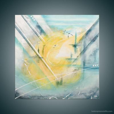 Peinture abstraite de l'artiste Helena Monniello qui représente le fait de monter au top.
